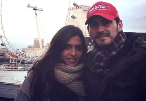 کاپیتان رئال مادرید کاسیاس و همسرش در شهر پاریس