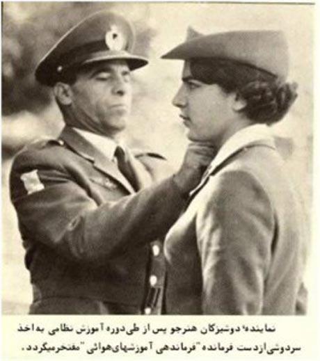 نخستین خانم خلبان ایرانی + عکس