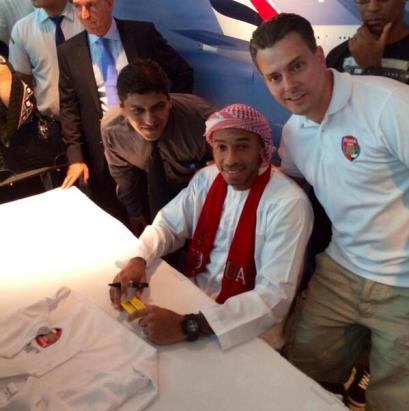 عکس مارادونا و تیری آنری در لباس عربی در امارات