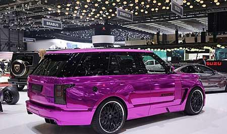 چه رنگ جذابی داره این ماشین شاسی بلند (عکس)
