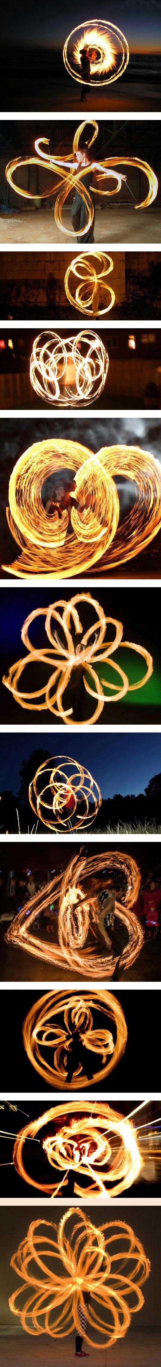 عکسهای شگفت انگیز از آتش بازی در شب