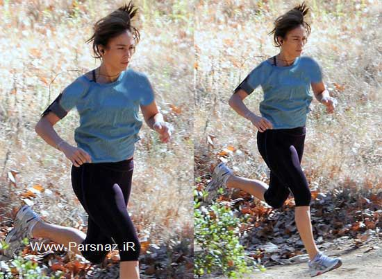 جنیفر لوپز در حال ورزش کردن + عکس