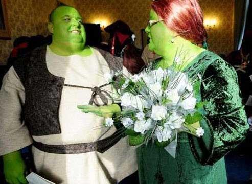 ازدواج بسیار جالب شرک و فیونا واقعی +عکس
