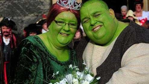 ازدواج بسیار جالب شرک و فیونا واقعی عکس