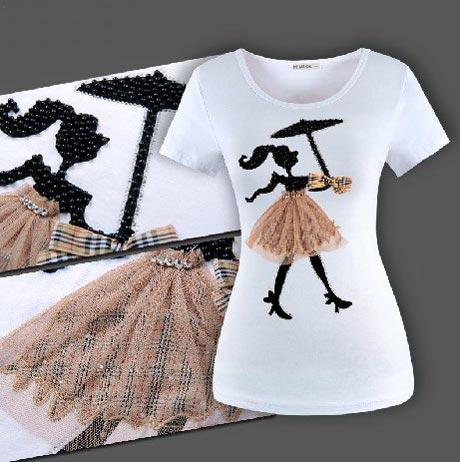 مدل های شیک تیشرت دخترانه (5)