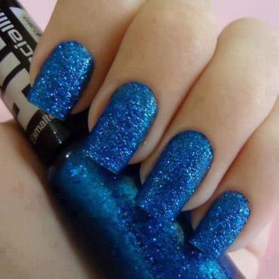 مدل مانیکور ناخن جدید با تم آبی + عکس