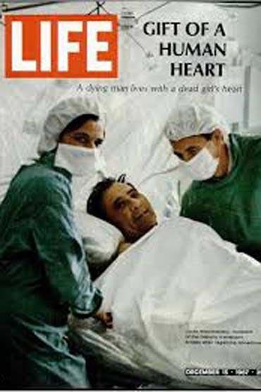 اولین عمل پیوند قلب (عکس)