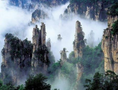 عکس هایی از کوهستان زیبای تیانزی در چین