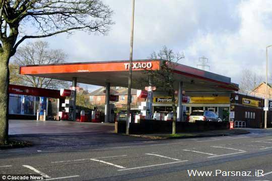 رفتار زشت مامور پمپ بنزین با خانم بانکی (+عکس)