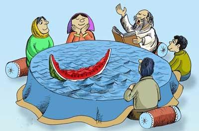 عکس هایی از کاریکاتورهای خنده دار شب یلدا