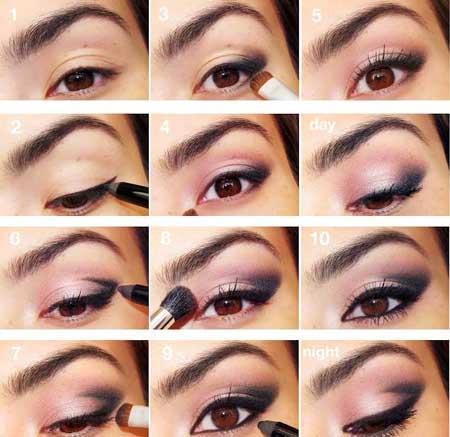 آموزش زدن سایه چشم در 10 مرحله + عکس