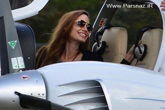 آنجلینا جولی فعلا پرواز ممنوع شد + عکس