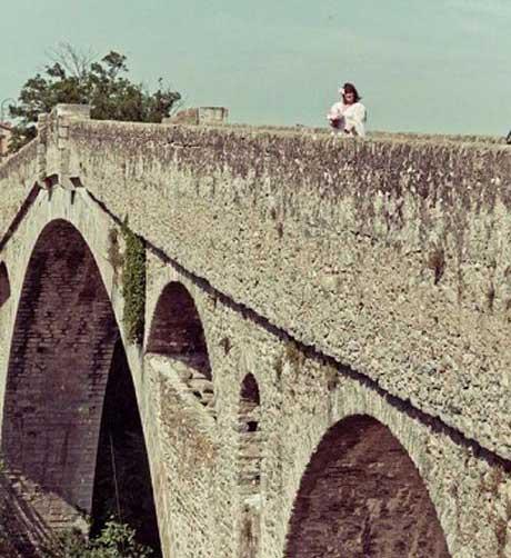 ازدواج عجیب این خانم با پل سنگی شیطان (عکس)