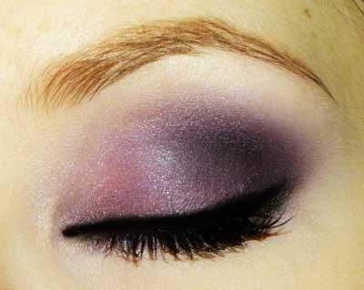 مدل آرایش چشم رنگ سال (تم بنفش)