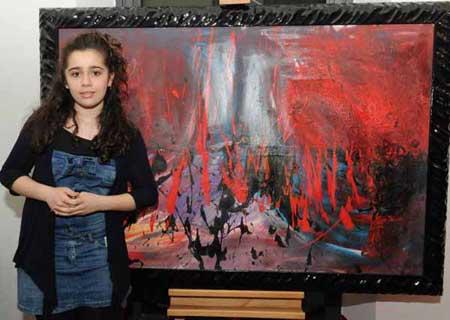 این دختر جوان ایرانی نابغه دنیای نقاشی شد (عکس)
