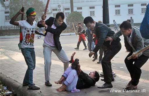 نیروهای حکومتی خانم وکیل را در خیابان کتک زدند