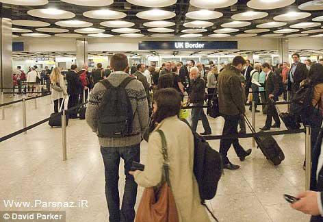 ترافیک مهاجرت خانم های حامله به بریتانیا (عکس)