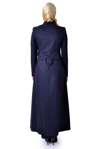 مدل مانتوهای بلند زنانه با دوخت ترک (2)