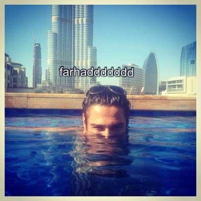 فرهاد مجیدی در حال شنا کردن (عکس)