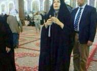 عکس جنجالی حضور خانم استرالیایی در حرم امام حسین (ع)