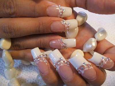 مدل مانیکور سفید و مشکی زیبا - سری سوم