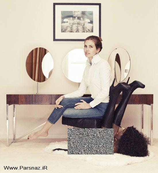صندلی مبتذل خانم میلیاردر مشهور باعث جنجال شد +عکس