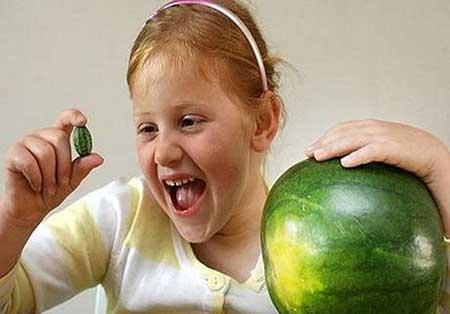 کوچکترین هندوانه در دنیا + عکس