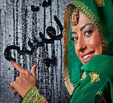 بازیگر معروف نفیسه روشن با لباس و آرایش هندی + عکس