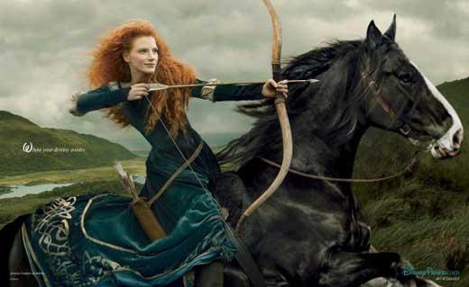خانم ستاره سینما در نقش دختر مو قرمز (عکس)
