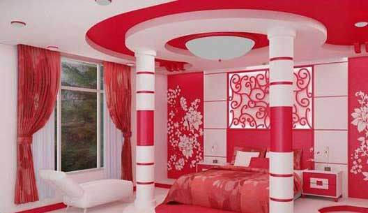 دکوراسیون اتاق خواب رمانتیک برای اتاق عروس