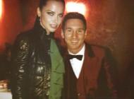 مسی در کنار این مدل زن زیبا و معروف + عکس