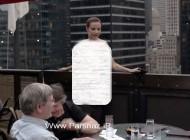 این خانم برهنه برفراز مشهورترین برج دنیا + عکس