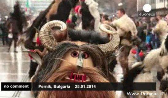 استقبال از بهار با رقص های عجیب در بلغارستان (عکس)