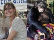 اتفاق وحشتناکی که شامپانزه به سر خانم آورد (عکس)