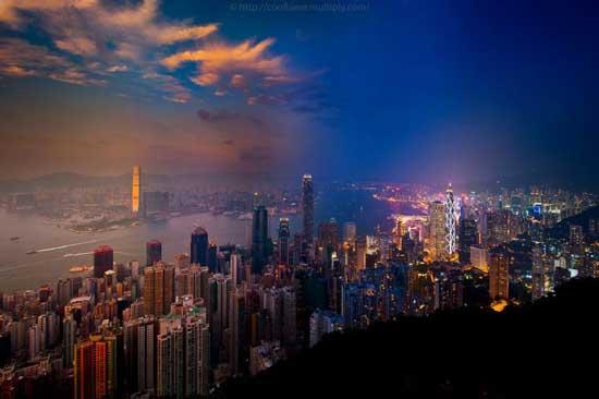 عکس های زیبا از شهر هنگ کنگ در شب