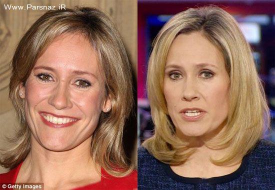 چهره متفاوت خانم گوینده خبر (عکس)