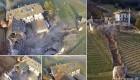 سنگ غول پیکر 4000 متر مکعبی خسارت به بار آورد +عکس