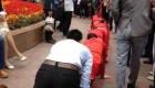 تنبیه خنده دار کارمندان یک شرکت لوازم آرایشی (عکس)