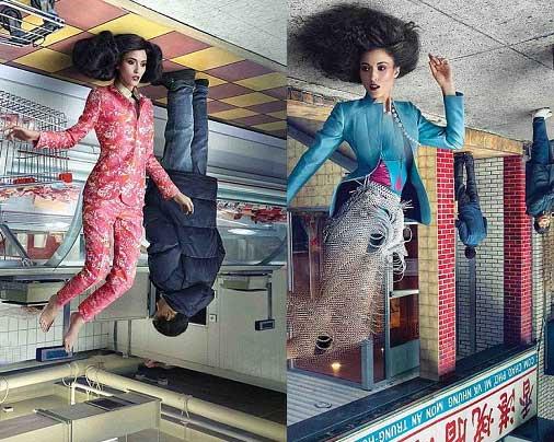 خانم های مدل آسمانی زیبا در کوچه و بازار (عکس)