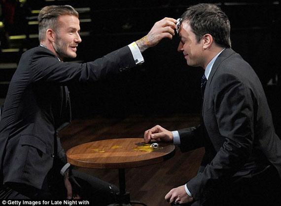 اقدام عجیب دیوید بکهام در مسابقه تلویزیونی +(عکس)