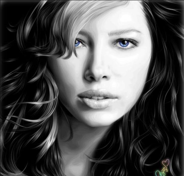 نقاشی های زیبا از چهره ی هنرمندان معروف جهان