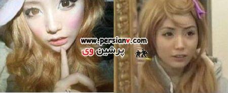 دختری که 2 سال آرایش صورتش را پاک نکرد..(عکس)