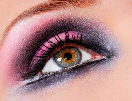 مدل های آرایش چشم - با رنگ سال 1393