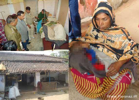 مرد هندی زنش را به خاطر نوزاد دختر به آتش کشید +عکس