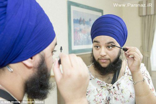 دختر 23 ساله هندی با ریش مردانه + عکس