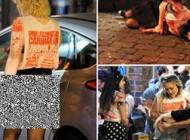 دختران برهنه دائم الخمر دانشجو در خیابان ها (عکس)