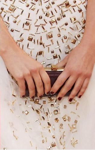 عکس های مدل مانیکور هالیوودی ها روی فرش قرمز
