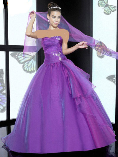 مدل لباس مجلسی با رنگ بنفش برای عید نوروز 93