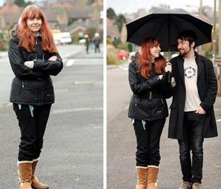 این زن جوان به باران حساسیت شدید دارد (+عکس)