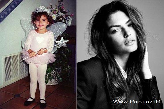 عکس های کودکی تا بزرگسالی زیباترین زنان مدل در جهان